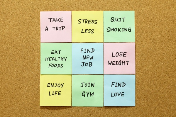 Goals on Post-It notes