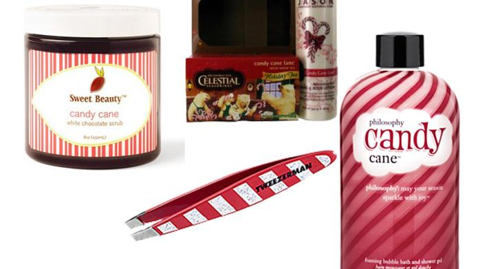 Candy cane beauty products