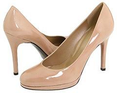 Round toe patent Stuart Weitzman pumps