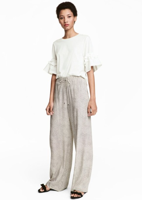 Wide Leg Pants Are Making a Comeback: H&M Wide-Cut Pants | Summer Style 2017