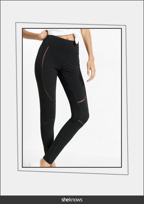 Mesh leggings with cutouts