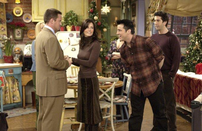 Courteney Cox, Matt LeBlanc, Matthew Perry, and David Schwimmer in Friends