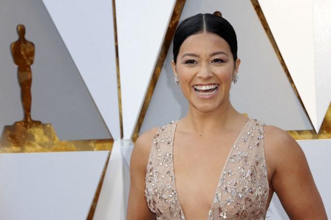 Gina Rodriguez at the 90th Academy Awards