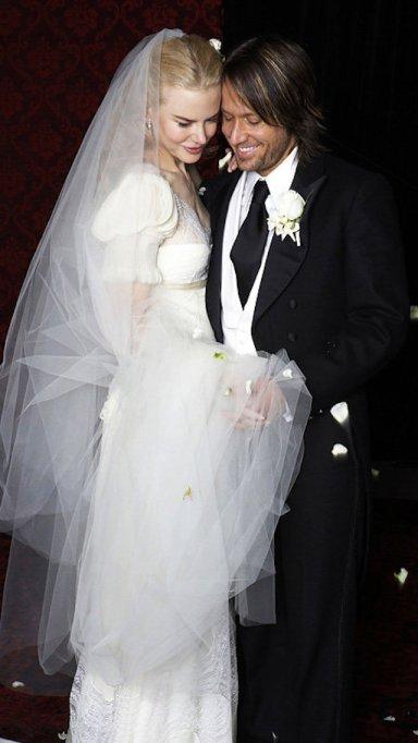 Nicole Kidman and Keith Urban on their wedding day in 2006