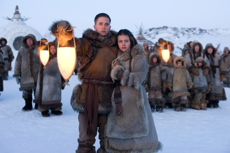 Jackson and Nicola in The Last Airbender
