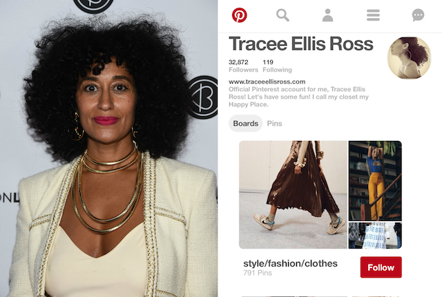 Celebs on Pinterest: Tracee Ellis Ross