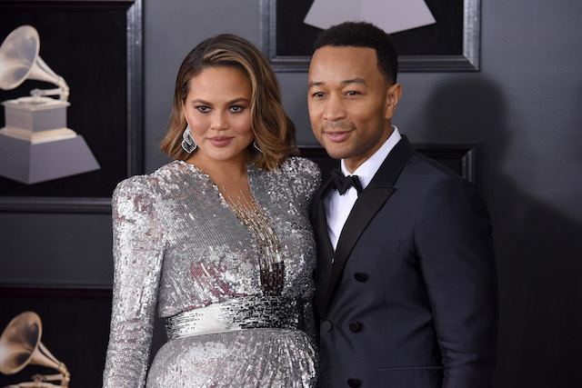 Chrissy Teigen and John Legend attend the 60th Annual Grammy Awards