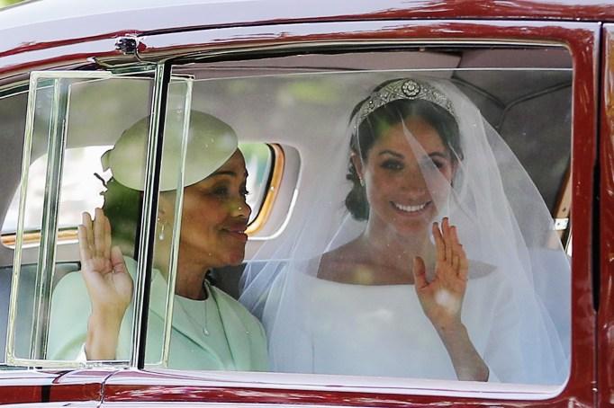 Meghan Markle & her mother. Doria Ragland, at the royal wedding
