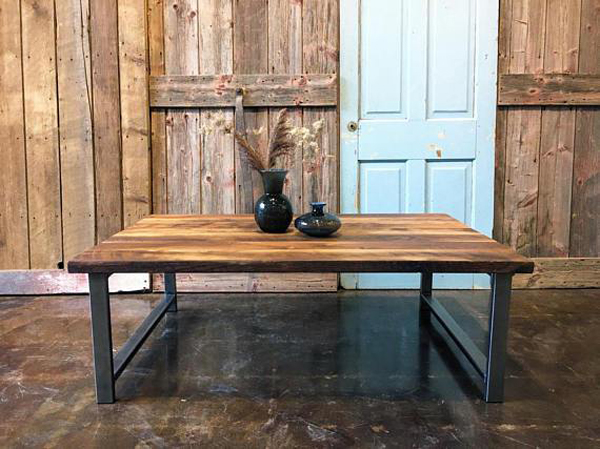Etsy Decorating Trends: Industrial Reclaimed Wood Coffee Table | Fall Decor