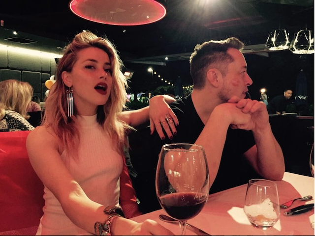 Amber Heard & Elon Musk hang out together