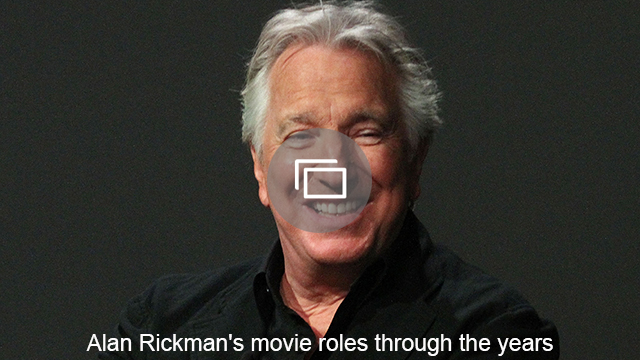 Alan Rickman's movie roles through the years