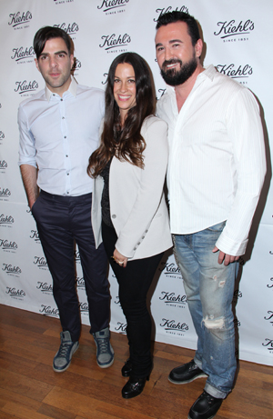 Alanis Morissette and Zachary Quinto for Kiehl's