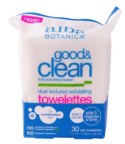 Alba Botanica Good & Clean Dual Textured Exfoliating Towelettes