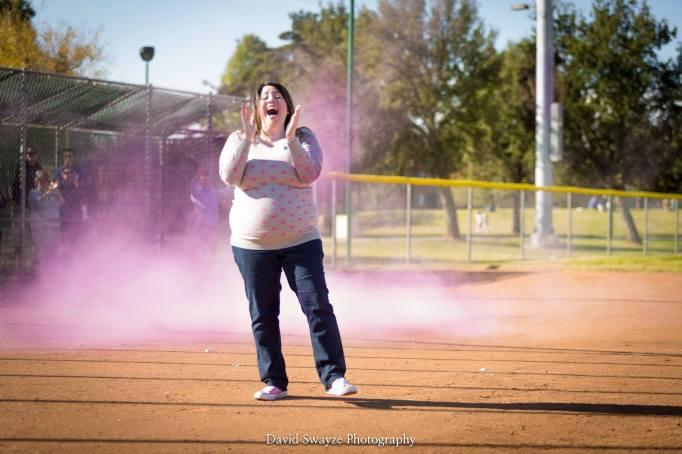 baseball themed gender reveal