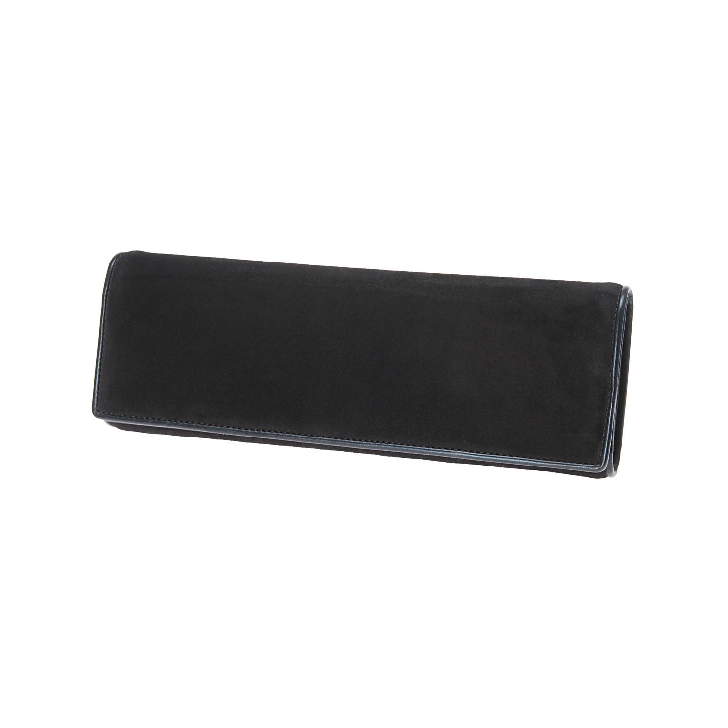 aldo-black-suede-clutch