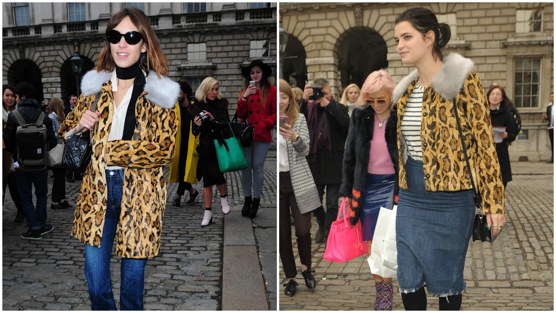 Alexa Chung and Pixie Geldof at London Fashion Week AW15