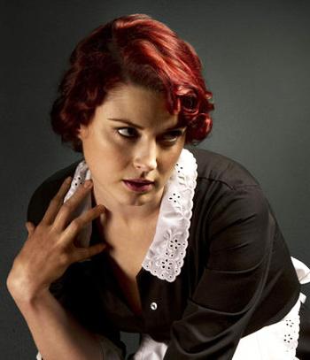 Alexandra Breckenridge plays Moira on American Horror Story