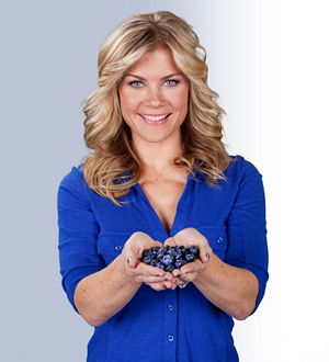 Alison Sweeney holding blueberries