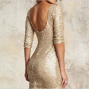 New Year S Eve Alloy Gold Sequin Dress