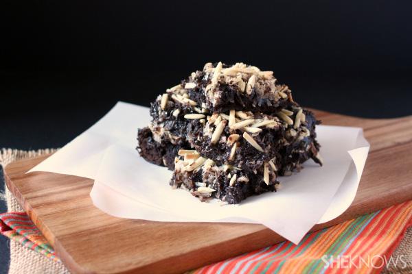 Almond Joy brownie bars