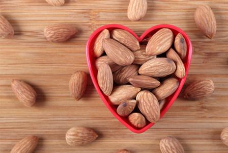Almonds in heart