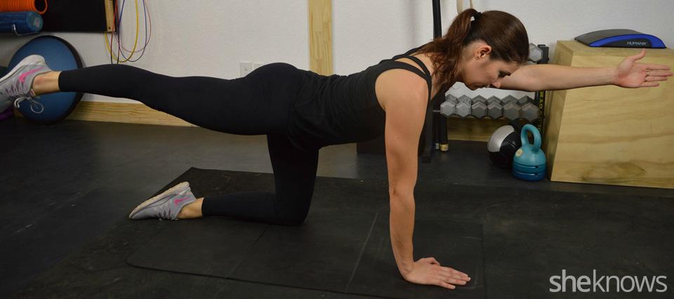 Alternating arm-leg extension