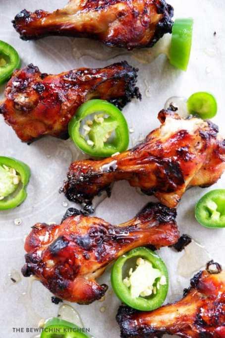 Jalapeño honey chicken wings