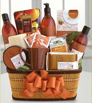 FTD amber gift basket
