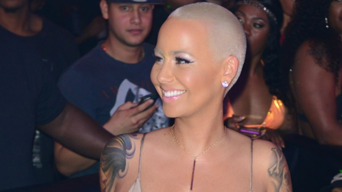 Amber Rose takes a suggestive selfie