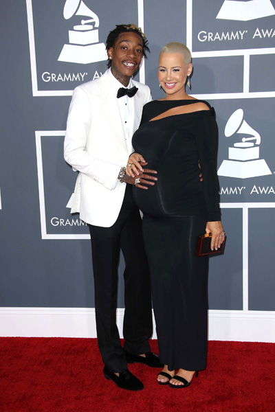 Pregnant Amber Rose and Wiz Kahlifa