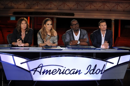 The American Idol juding crew for season 10