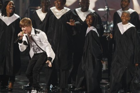 Justin Bieber at the American Music Awards