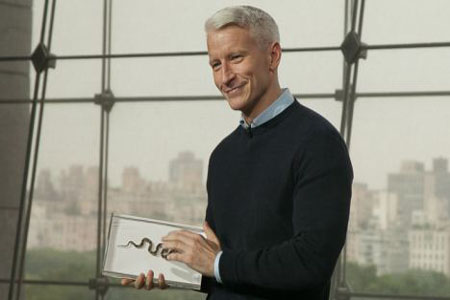 Anderson Cooper's pet snake