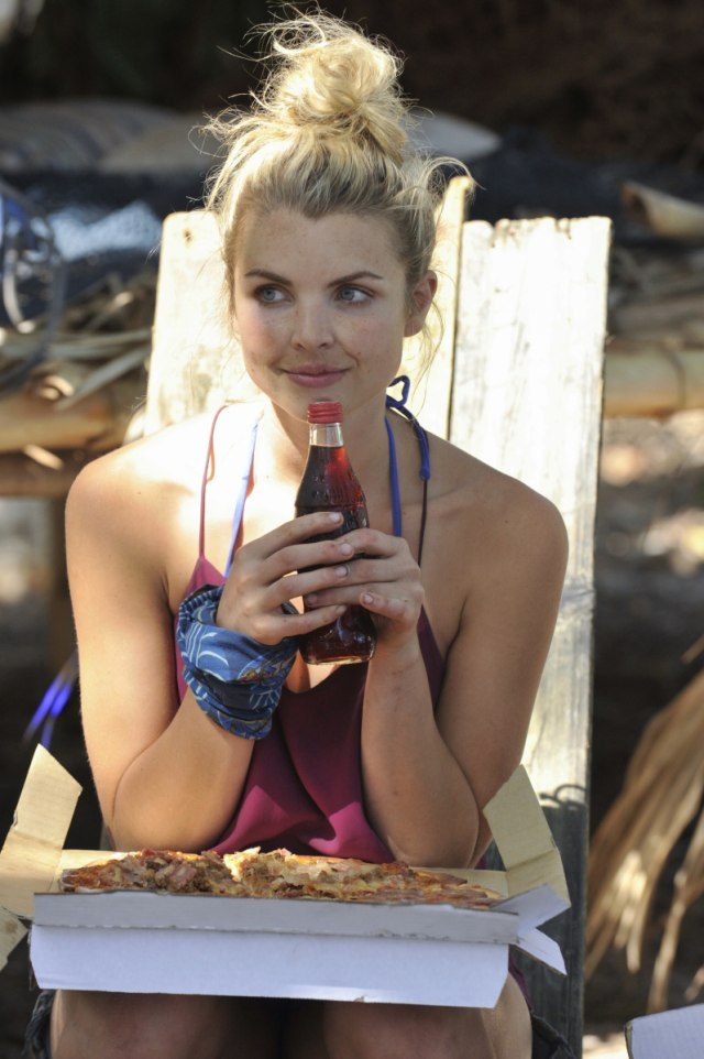 Andrea Boehlke relaxes on Survivor: Game Changers