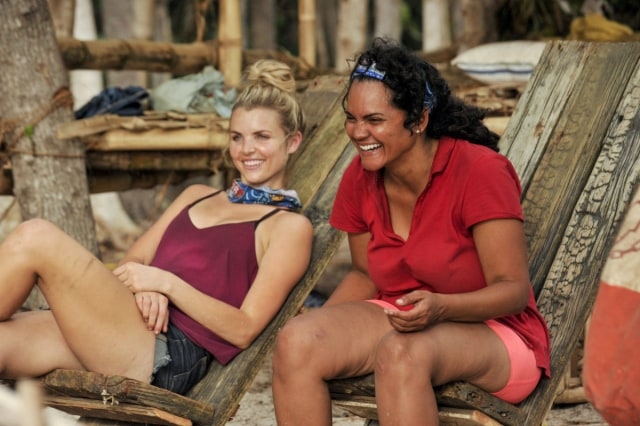 Andrea Boehlke with Sandra Diaz-Twine on Survivor: Game Changers