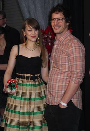 Andy Samberg and girlfriend Joanna Newsom