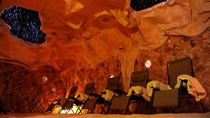 Interior of a man-made salt cave