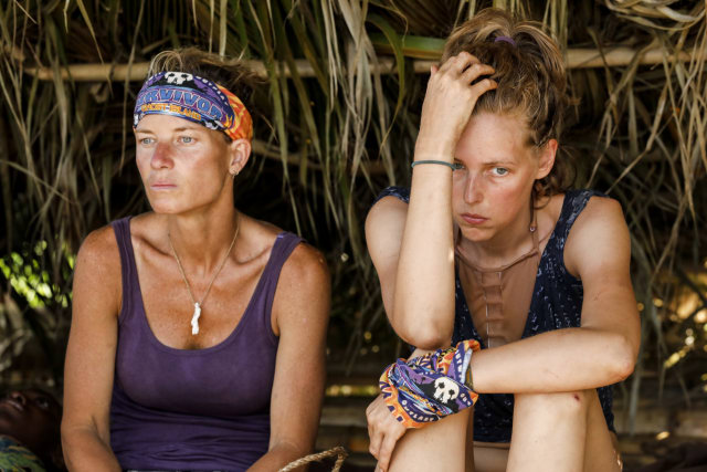 Angela Perkins and Kellyn Bechtold on Survivor: Ghost Island