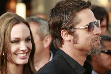 Angelina Jolie and Brad Pitt walk the red carpet