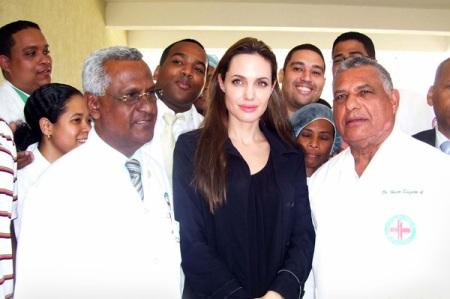 Angelina Jolie visits Haiti