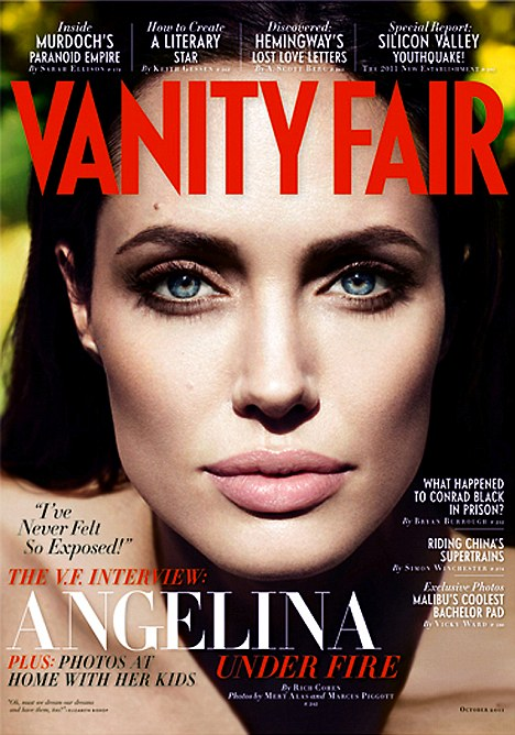 The beautiful Angelina Jolie on the October issue of Vanity Fair