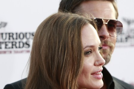 Anjgie and Brad on the red carpet