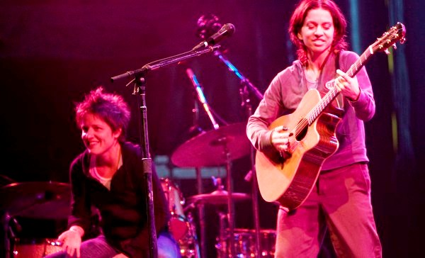 Ani, even miles from her New Orleans home, is equally at home on stage