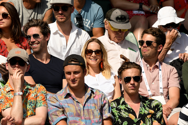 James Cannon and Joanne Froggatt attend day two of the Wimbledon Tennis Championships at the All England Lawn Tennis