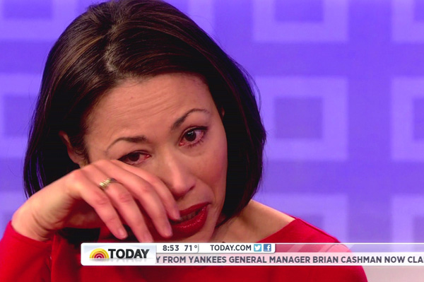 Ann Curry cries as she leaves Today