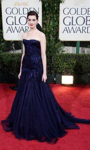 Anne Hathaway at the 2009 Golden Globes