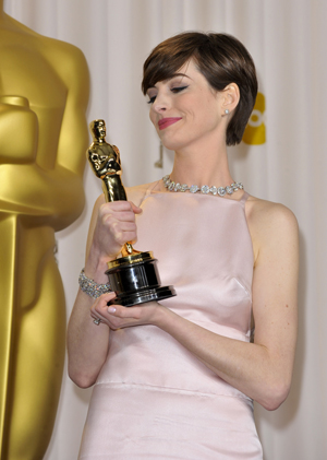 Anne Hathaway and her perky bust line