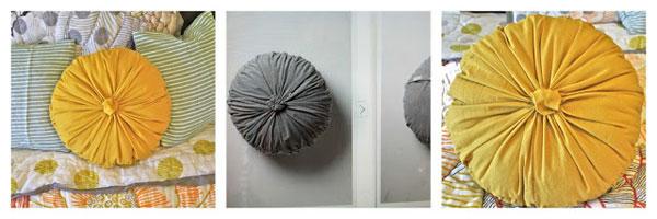 Rosette round pillow