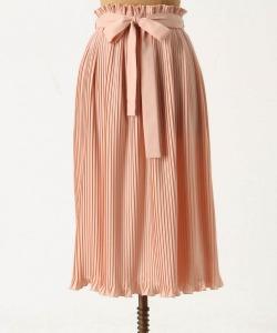 Anthropologie Million Pleats Midi Skirt