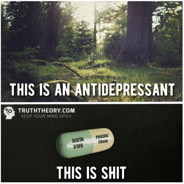 Facebook post against anti-depressant medication